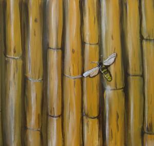 Bi på bambus